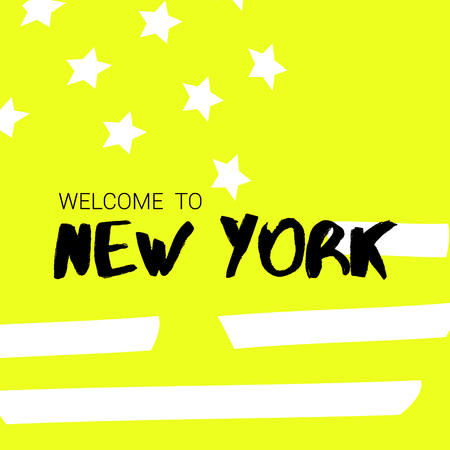 Welcome to New York, Banner 版權商用圖片 - 117688202