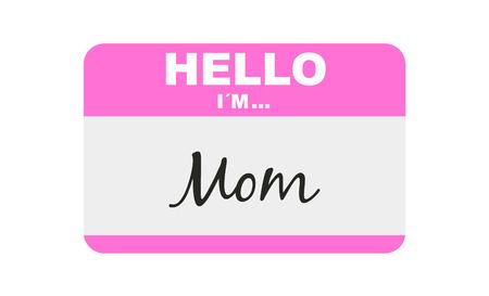 Hello, I'm... Mom, Sticker Vector