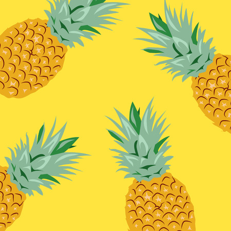 Pineapples Vector Illustration, Background 版權商用圖片 - 117688216