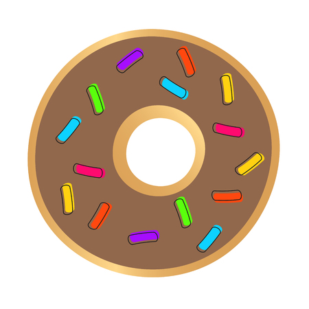 Abstract Chocolate Donut, Vector Illustration