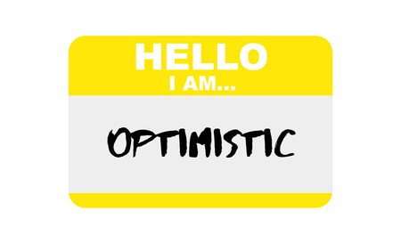 Hello, I am... Optimistic, Sticker Vector