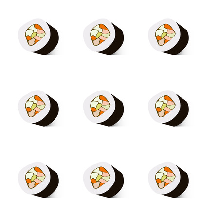 Sushi vector Illustration, Background
