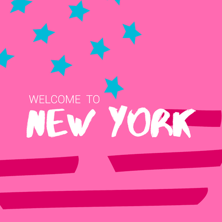 Welcome to New York, Banner 向量圖像
