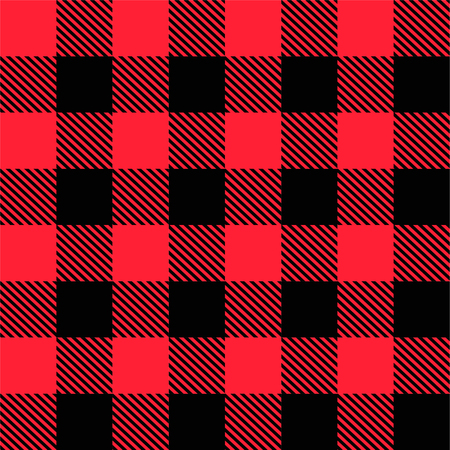 Tartan Pattern, Red and Black Squares