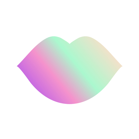 Abstract Lips with Gradient Colors