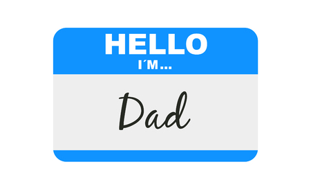 Hello, I'm... Dad, Sticker Vector 版權商用圖片 - 117688218