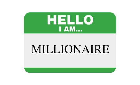 Hello, I am... Millionaire, Sticker Vector Ilustração