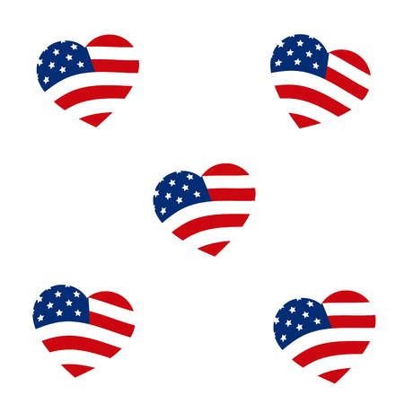 Abstrat Hearts with USA Flag 版權商用圖片 - 117688320