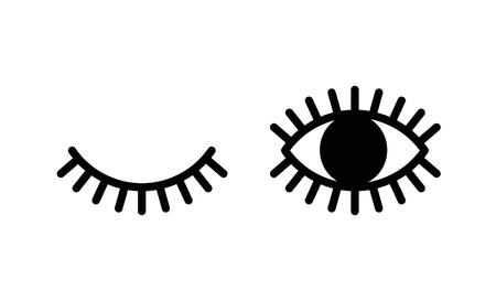 Close and Open Eyes, Lashes 版權商用圖片 - 117688328