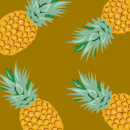 Pineapples Illustration,Background