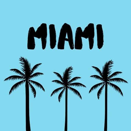 Miami Text, Palm Trees