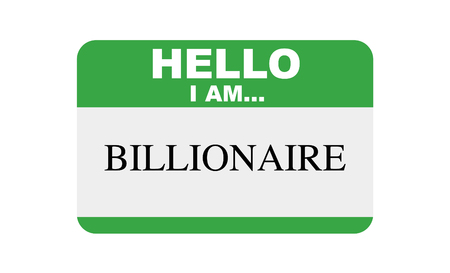 Hello, I am... Billionaire, Sticker Vector 版權商用圖片 - 117688516