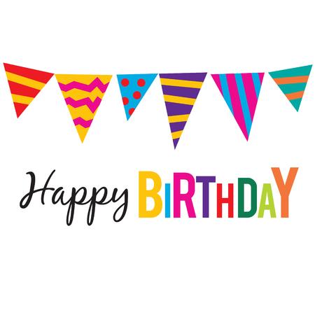 Happy Birthday Text and Decoration