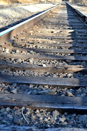 Train track Stock Photo