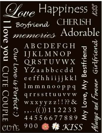 スクラップ ブックの愛の言葉と文字  イラスト・ベクター素材
