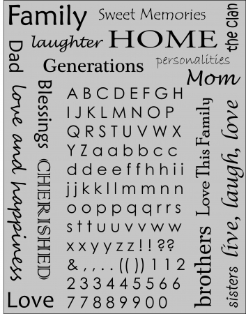 Family words and letters Illustration