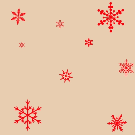 Red Snowflakes Stock Vector - 17360389