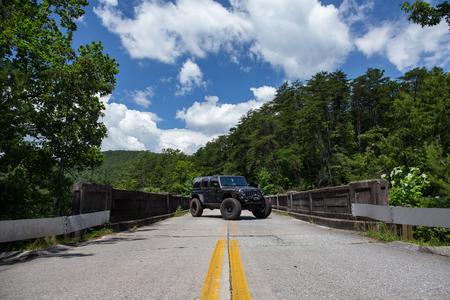 Jeep on Bridge in Georgia Editorial