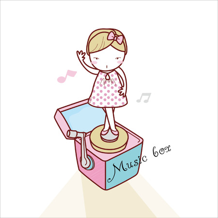 boite a musique: Bo�te � musique et Fille