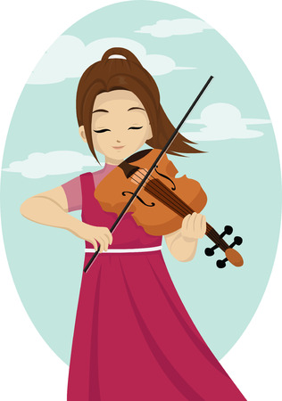 talented: girl playing violin