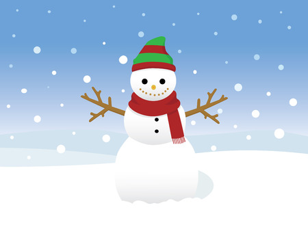 snowman wearing red scarf