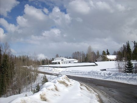 winter country scenic photo