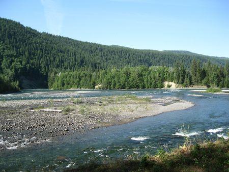 Quesnel river meets the Cariboo river
