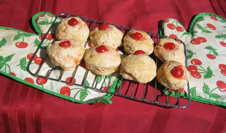 Lemon & cherry scones                               Stock Photo