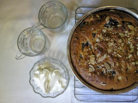 cafe y pastel: Ar�ndano pastel de caf�