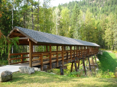 Wooden walking bridge  photo