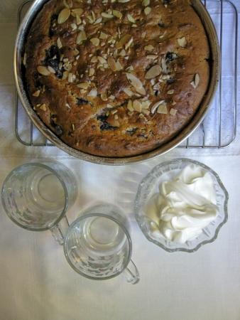 cafe y pastel: El pastel de caf� Foto de archivo