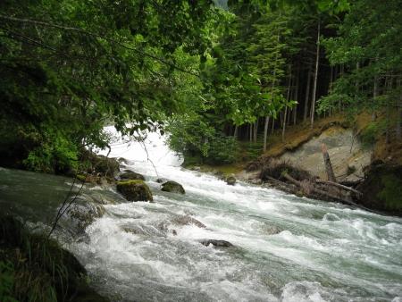 rushing water: Rushing water from the falls  Stock Photo