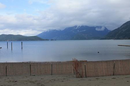 lake beach: Harison Lake beach Stock Photo