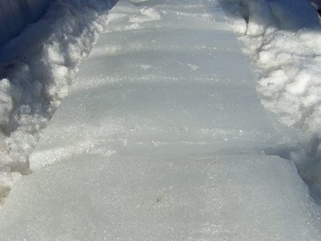 melted: Melted snow sheets