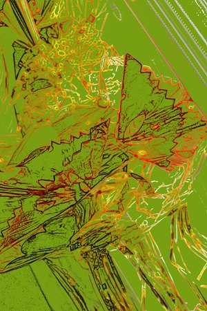joyous life: Ruffles and lines -abstract art
