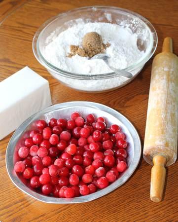 cherry pie: Making the cherry pie Stock Photo