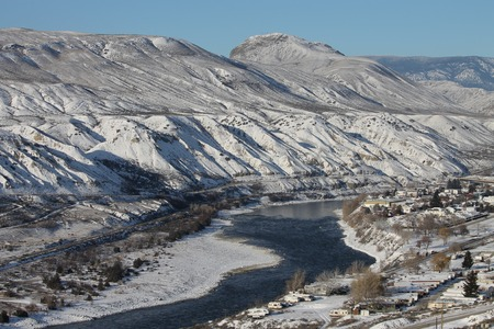 South Thompson River - winter scenc Stock Photo