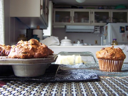Hot muffin kitchen scenic Stok Fotoğraf - 79439108