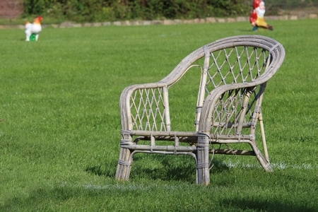 the garden chair for the attack