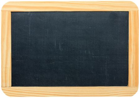 Blank blackboard in wooden frame