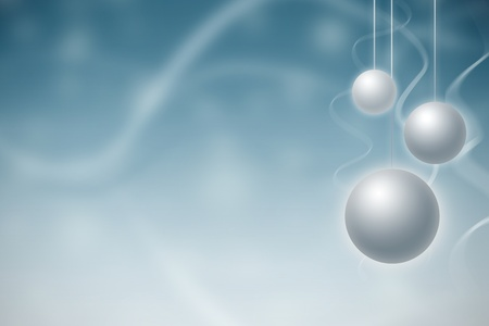 Christmas decoration with white sparkles photo