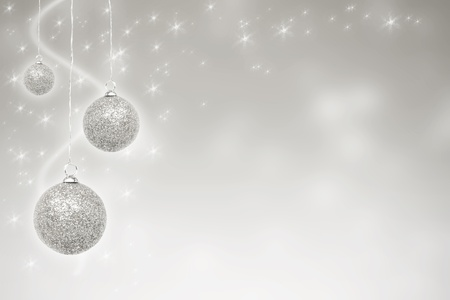 Golden Christmas baubles with stars photo