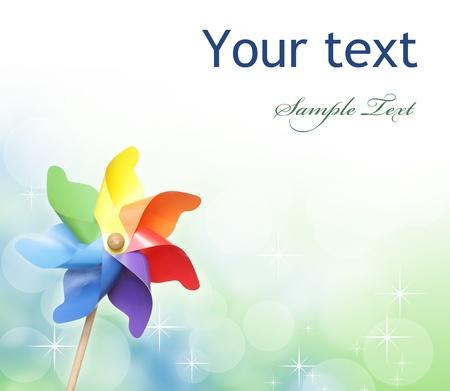 pinwheel: Colorful pinwheel against bokeh background