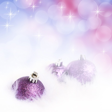 Christmas bauble against bokeh background