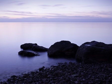 Beach in the evening, long exposure photo Stock Photo - 8918576