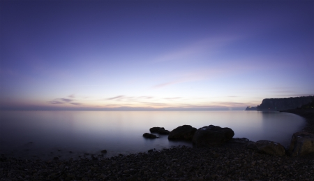 Sistiana Bay, Italy in evening, long exposure photo Stock Photo - 8918432