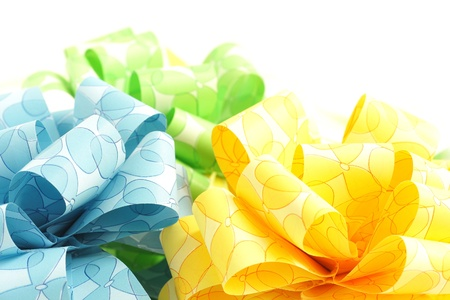 colorfu: Three colorfu bows isolated on white