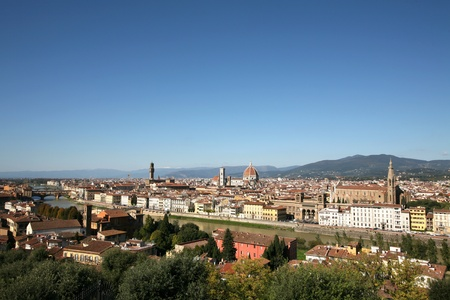Beautiful tuscan city Florence in Italy Stock Photo - 9503606