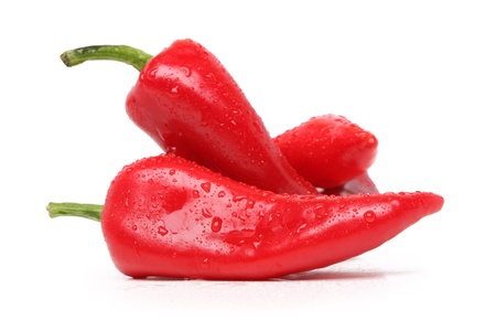 Chilli peppers, isolated on white