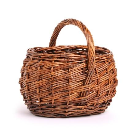 cepelia: wicker basket isolated on white